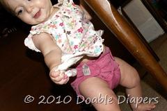 Elaine 8 months in Flip Diaper