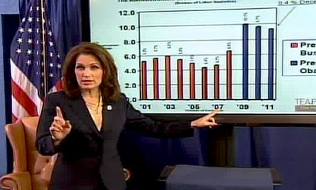 Bachmann's Graph shows Obama has been president for 3 years!