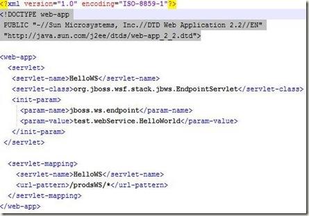jbossws webxml
