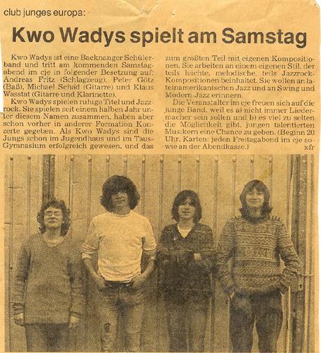 BKZ-Artikel: Kwo Wadys @ cje Steinbach