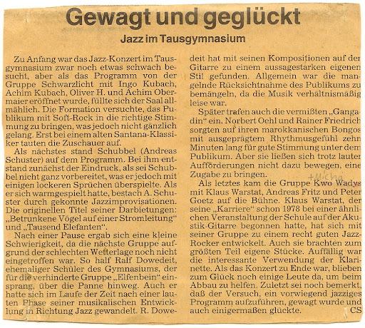 BKZ Artikel Kwo Wadys Gymnasium In Der Taus Backnang