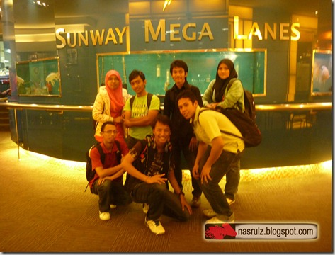 After bowling game at Sunway