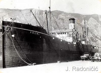 Brod Prenj na kotorskom mulu