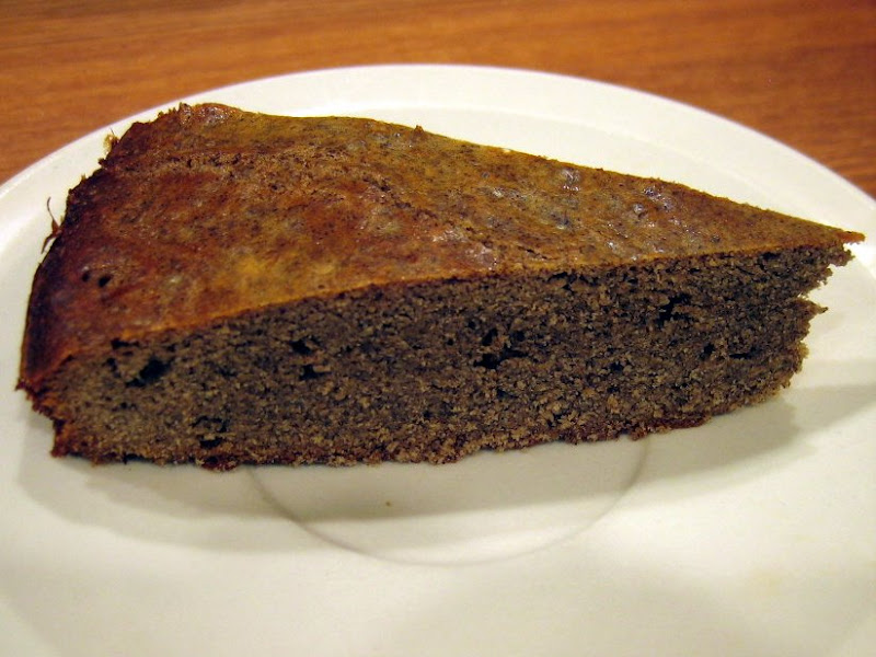 Slice of buckwheat cake