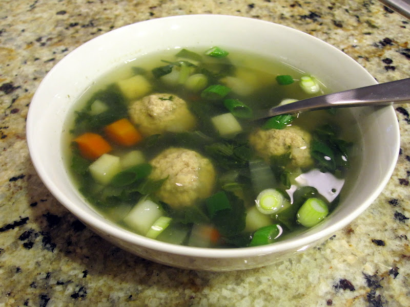 Mom's turkey meatball soup