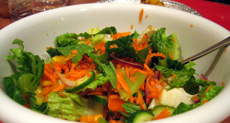 Fresh salad with lime-cumin vinaigrette