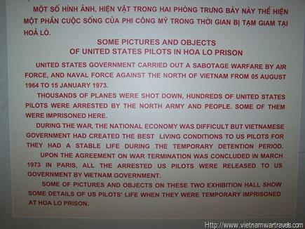Hanoi Hilton (Hoa Lo Prison) POW displays