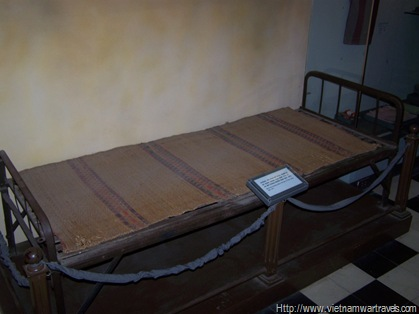 Hanoi Hilton (Hoa Lo Prison) POW bed
