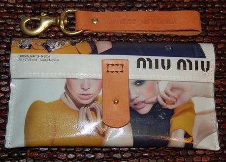 Miu Miu Paper Magazine Clutch