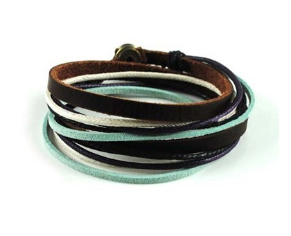 Brown-Leather-Wrap-Bracelet