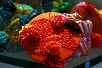 Hats in a shop at the Four Seasons in Langkawi Malaysia