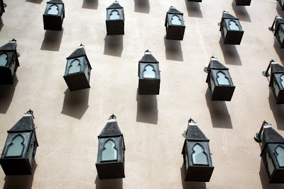 Lanterns on the wall at the Four Seasons Langkawi Resort