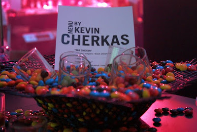 Sign for chef Kevin Cherkas from BLU Restaurant in Singapore at Madrid Fusion in Spain