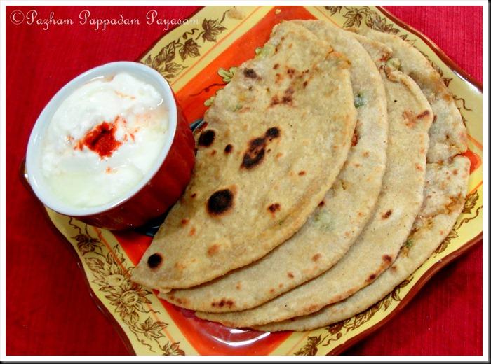 Vegetable stuffed chapathi