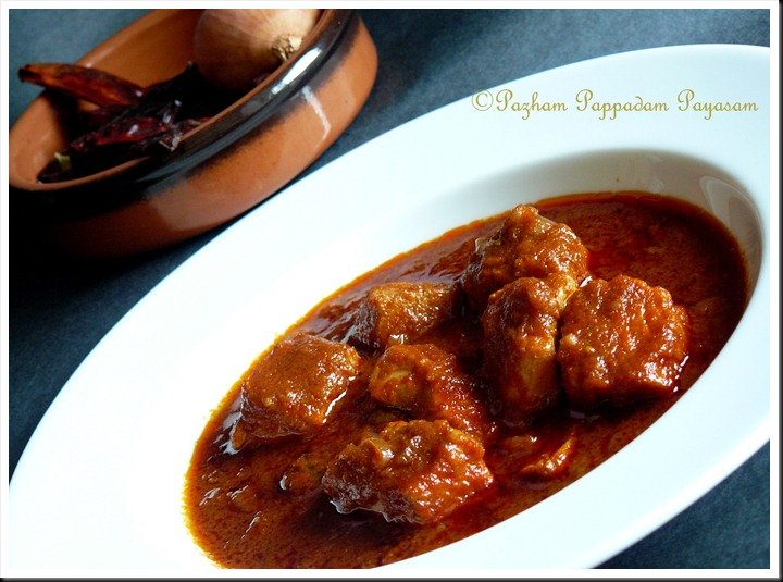 Meen mulaku curry/ fish in red gravy