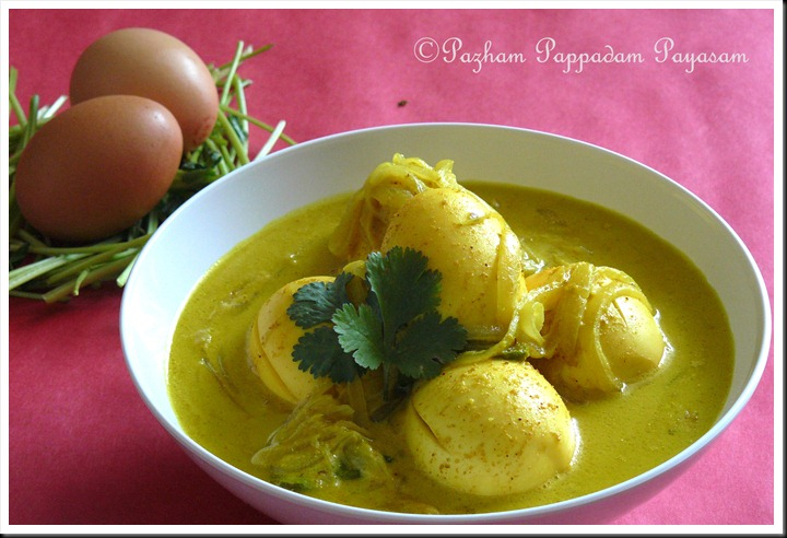Mutta curry with coconut milk