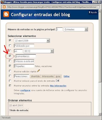 Comentarios Blogger