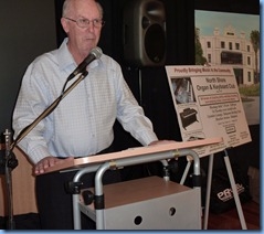 The Club's Events Manager, Peter Brophy, did a great job as MC for the day.