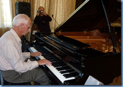 Village resident, John Perkin, shared in the entertainment and firstly played the grand piano