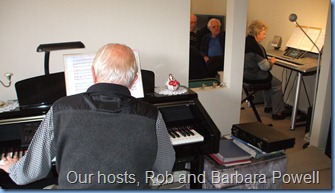 Our hosts, Rob and Barbara Powell played a couple of duets very nicely.