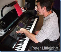 Peter Littlejohn enjoying the Clavinova