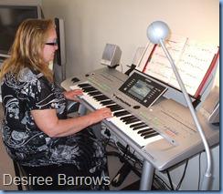 Desiree Barrows enjoying playing the Tyros 3