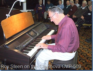 Roy Steen gave us an impromptu two pieces on the Clavinova. Lovely Roy!