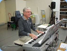 Gordon Sutherland playing his Korg Pa1X