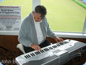 John Bercich played us some great music on Gordon Sutherland's Pa1X Korg