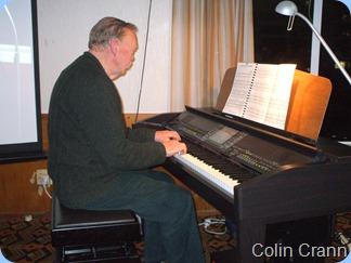 Colin Crann playing the Club's Yamaha Clavinova CVP-509