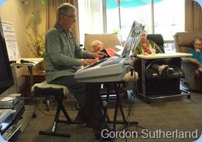 Club President, Gordon Sutherland, entertaining the Fairview Hospital residents
