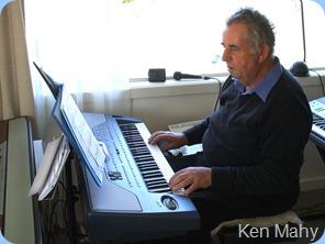 Ken Mahy enjoying the Korg Pa800