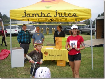 medal in front of Jamba tent