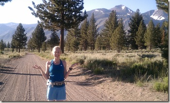 Mammoth Lakes trail run Alissa