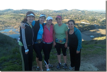Santiago Creek Run with gals