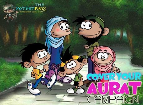 Aurat, Cover Aurat, Keluarga Bahagia, Muslim dan Muslimah, Kartun Islam