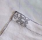 Blackwork napkin
