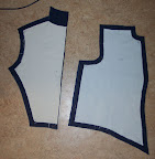The bodice pattern pieces