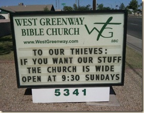 church sign thieves