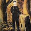 N.Pirosmani. Portrait of Ilya Zdanevich.