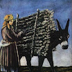 N. Pirosmani. Firewood Seller.