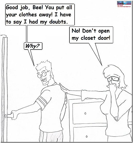 comic strip closet 3