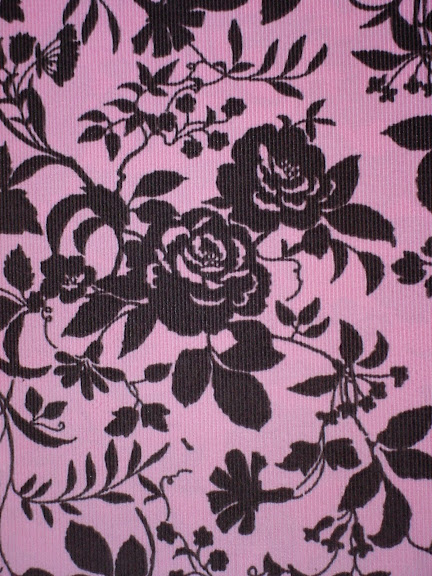 Chocolate Roses on Blush Corduroy
