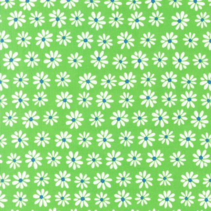 Daisies on Kiwi Corduroy - BTP