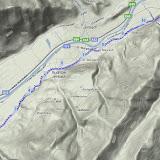 Laufstrecke: über Buch nach Straß (hin und retour: 25,04 km)