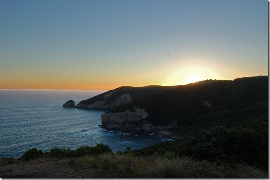 Ryan's Den - looking west from cliff top