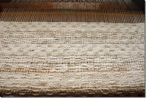 Georgie's weaving - alpaca
