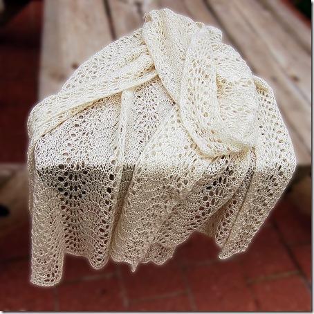 Jill's knitted alpaca shawl