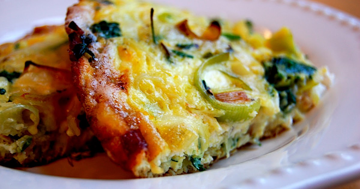 Savory Spicy Sweet: Lemon Frittata with Leeks and Goat Cheese