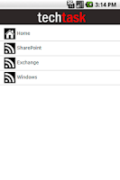Screenshot of TechTask